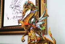 Striking Statues / Explore intricate, bold and colorful statues!