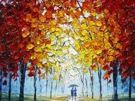 Slava Ilyayev / Artist Slava Ilyayev is best known for his highly textured autumnal scenes created using oil paints applied with a palette knife.