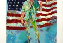 LeRoy Neiman / American artist LeRoy Neiman is recognised as the first major sports artist in history. His expressionist artwork is on display around the world including the Smithsonian, the Museum of Fine Arts in Boston and Wadham College at Oxford.