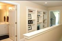 Built-Ins and Wall decor / Beautiful cabinets & shelves for storage or decoration. A place for books, pictures, momentous, games and toys.