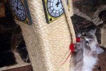 Big Ben Cat Scratching Post / Quite possibly the coolest Cat Scratching Post ever made - well we'd like to think so! This substantially large Scratching Post is modelled on the famous London clock tower and is breathtaking. Made by ScratchyCats and only available to buy from www.scratchycats.com