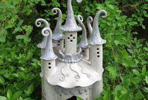 Gardens: Fairy Houses / See also Gardens: Fairy & Miniature Garden Accessories / by Eddie Alvarez