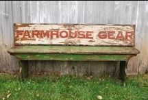 FarmHouse Gear / Gorgeous repurposed barnwood industrial tables.