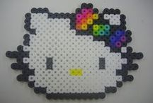 Hama Beads Hello Kitty / Hama beads, Hello Kitty. Hello Kitty and friends. CUTE!!