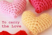 HEARTS - CROCHET - KNIT - SEW / All sorts of 'hearts' to make either crochet, knit or sew!!  Wanting to make little 'stuffed heart pillows' that Mum's can cuddle up to or wear as a 'pin'.