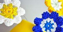 Crochet flowers & hearts / Haken bloemen & hartjes