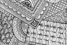 Rajz, zentangle, doodling, painting, one stroke technic etc. / rajz