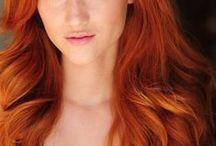 рыжие волосы (золотистый медный)