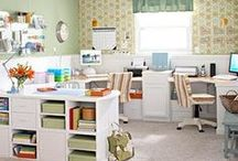 Home Office Ideas / I work from my home making and marketing online my line of handmade workplace fashion ids.  I always like good ideas for organizing and decorating my office/studio.