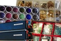 Bead Storage and Organization / If you do much work with beads at all, you most likely are constantly challenged with keeping them stored and organized.  Here are some helpful ideas.