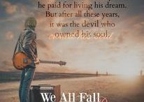 """We All Fall Down public board / This board depicts images of the characters, settings, backgrounds and music for the novel """"We All Fall Down,"""" book two in the Of Love and Madness series by Karen Cimms."""