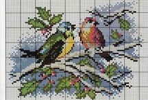 Cross stitch pattern, Keresztszemes minták, egyébb himzések