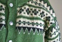 Norwegian sample, Norvég minták / Norvég mintás puloverek kesztyűk
