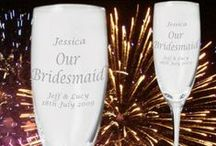 Wedding Party Gifts / A range of gifts which are suitable for all of the wedding party whether it's the groom and bride, mother and father to them, best man, maid of honour, ushers, bridesmaids or anyone else.
