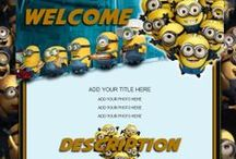 Cartoon Auction Templates / Adorable and creative cartoon auction templates. Perfect for all your kids products and clothes.