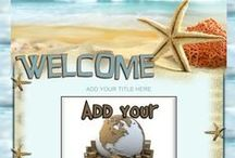Ocean / Nautical Auction Templates / Take your customer to the open blue waters with these salty aired auction templates.