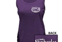 Camp Pembroke Gear / Activewear, outerwear, and gear, all personalized with the Camp Pembroke logo.