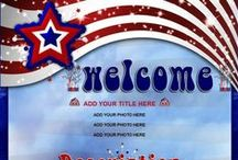 Patriotic USA Red White Blue Auction Templates / Display your colors with these Patriotic Colors. Red White Blue.