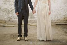 Wedding Wardrobe / Of wedding gowns, bridesmaid dresses, bow ties and suits for the men and more.