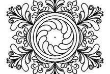 f.fregi e altro nero e bianco / pattern