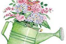f.fiori e piante / pattern