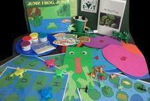 Jump Frog Jump by Robert Kalan - July 2014 Kit / Fun and educational activities based on the book Jump Frog Jump by Robert Kalan.