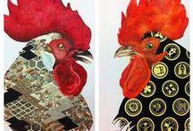 galli e galline rooster Kichen