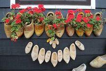 zoccoli Dutch Wooden Shoes Vintage Holland Klompen / folclore olandese