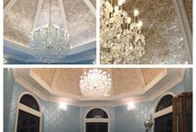 Mica Wallcoverings and Artwork / Natural Mica finishes for walls, niches, ceilings, backsplashes, fireplaces, etc