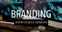 Branding : Snow in July Designs / Small business branding designed by www.snowinjulydesigns.com #logos #websites #signage