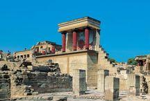arch: Knossos Palace / ||Pałac w Knossos, Kreta, Grecja, okres minojski w sztuce Starożytnej Grecji