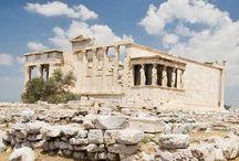 arch: Erechtheion / ||Erechtejon na Akropolu w Atenach, Grecja, architektura klasyczna, porządek joński w sztuce Starożytnej Grecji