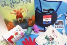 The Giant Hug by Sandra Horning - Ivy Kids kit February 2016 / Math, literacy, and art activities included in February's Ivy Kids kit to go along with the book The Giant Hug by Sandra Horning.