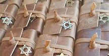 Bar Mitzvah Party Favors / Leather Bar Mitzvah and Judaica Party Favors, Tallit Bag, Tefillin Bag, Personalized Gifts