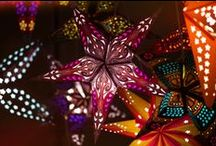 Paper Star Lights / These starry lights are perfect for dorm room decor and as night lights for your young ones.