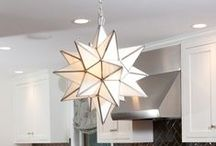 Glass Star Lights / Our Moravian glass star lights add the touch of brightness that every room needs.