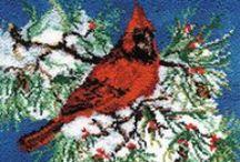 Latch Hook Rug Kits - Birds