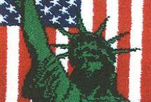 Latch Hook Rugs-Patriotic