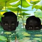 RUUD VAN EMPEL / Van Empel's working method is a complex one. He photographs 4 or 5 professional models in his studio and takes many detailed photographs of leaves, flowers, plants and animals. The models pictures are mixed with these images using the Photoshop program and with clothes photographed separately on a tailor's dummy. In this way he creates new images of mainly children, in black and white, set in a paradisaical environment.