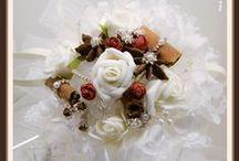 I Bouquet / I meravigliosi bouquet di ArteAtesina per il tuo matrimonio, realizzati nello stile biedermeier utilizzando spezie, filigrane, perle, organze...