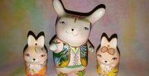 Rabbit - bunny / Ceramic Ocarina. Animal sculpture. Pictures & illustration. Rabbit art #ceramic #art #handmade #ocarina #Animal #sculpture #jivizvuk #figurine #music #gifts #Rabbit #toy #bunny