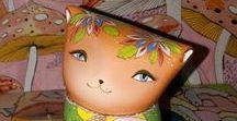 Squirrel & mushrooms / Ceramic Ocarina. Animal sculpture. Pictures & illustration. Toy. Art #ceramic #art #handmade #ocarina #Animal #sculpture #jivizvuk #figurine #music #gifts #toy #Squirrel #mushrooms