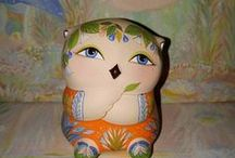 Owl / Ceramic Ocarina. Animal sculpture. Pictures & illustration. Owl art #ceramic #art #handmade #ocarina #Animal #sculpture #jivizvuk #figurine #music #gifts #toy #owl