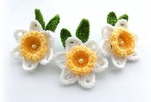 Crochet flowers and appliques