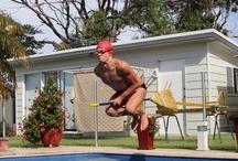 Divertenti in piscina / Foto divertenti nell'ambito piscina.