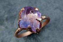 Raw Rough Gemstone Rings / Raw Rough Gemstone Rings