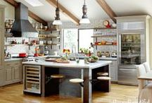 Tiles and shelves - kitchen