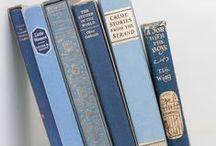 books + shelves / Novels + cook books.