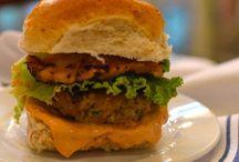 Burgers / Bacon Burgers, Beef Burgers, Bison Burgers, Black Bean Burgers, Cheeseburgers, Chicken Burgers, Lamb Burgers, Pork Burgers, Quinoa Burgers, Shrimp Burgers, Sloppy Joes, Sweet Potato Burgers, Tilapia Burgers, Trout Burgers, Tuna Burgers, Turkey Burgers, Veggie Burgers, Venison Burgers