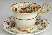 High Tea / Beautiful cups and saucers, cake plates, flatware, tablecloths and napkins.